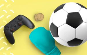 Fan token: imagem traz bola de futebol, luva de box, controle de vídeo game e moeda