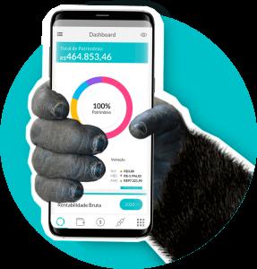 Aplicativo Gorila no smartphone